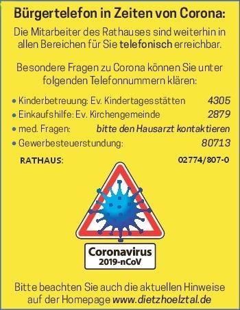 Bürgertelefon Corona